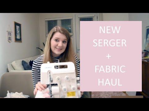 I bought a serger!! (Fabric haul + new serger)