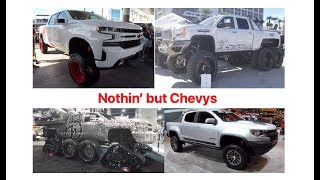 Nothin' but Chevy and GMC trucks : SEMA 2018