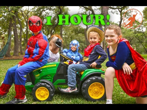 New Sky Kids Little Superhero Kids Compilation Video - 1 Hour with the Super Squad
