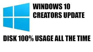 Fix Disk 100% Usage on Windows 10 Creators Update (UserNotPresentSession.etl)