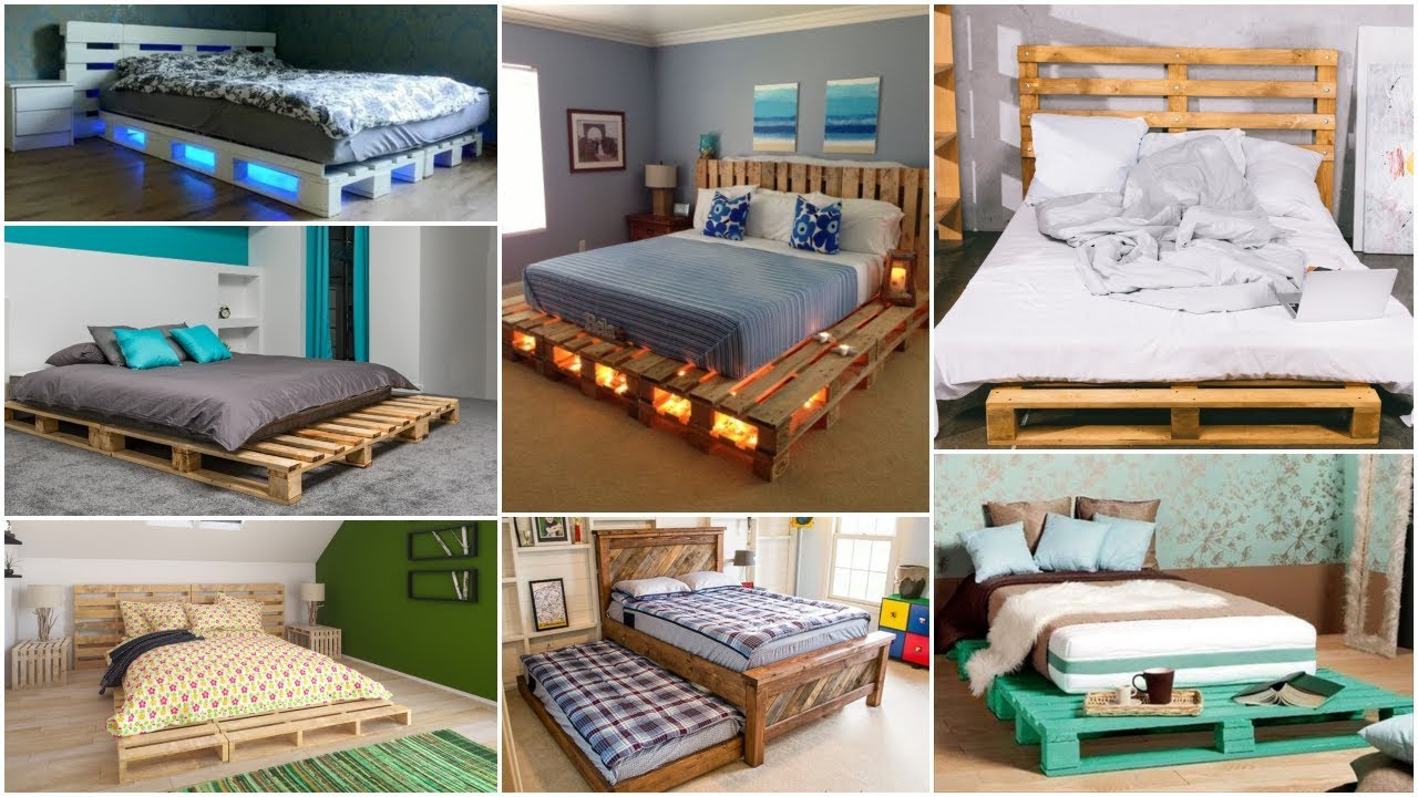 Pallet Bed 30 Beds Made Out Of Waste Wooden Pallets Youtube
