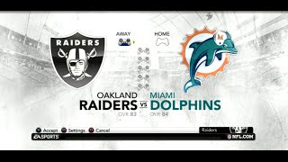 PS3 Gameplay: Madden NFL 12 (Season Week: 13) [Raiders vs Dolphins]
