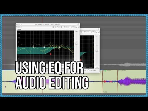Using EQ for Audio Editing - reduce plosives, crackles, and click bleed