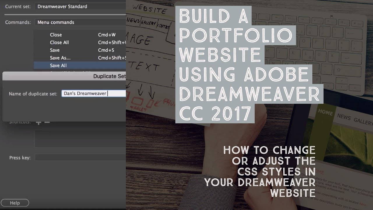 How to change or adjust the CSS styles in your Dreamweaver website ...