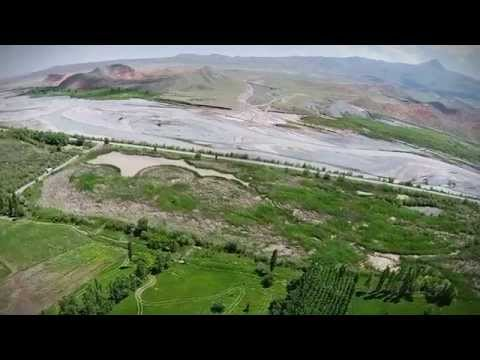 kuş bakışı aras nehri kuş cenneti karsiğdır sınırı yukarı çıyrıklı köyü tuzluca türkiye