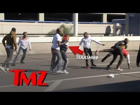 Rapper Tekashi69 and Crew in Massive Brawl at LAX