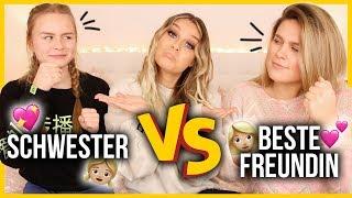 SCHWESTER vs. BESTE FREUNDIN - wer kennt mich besser ? 😳🤷🏼♀️ | Dagi Bee