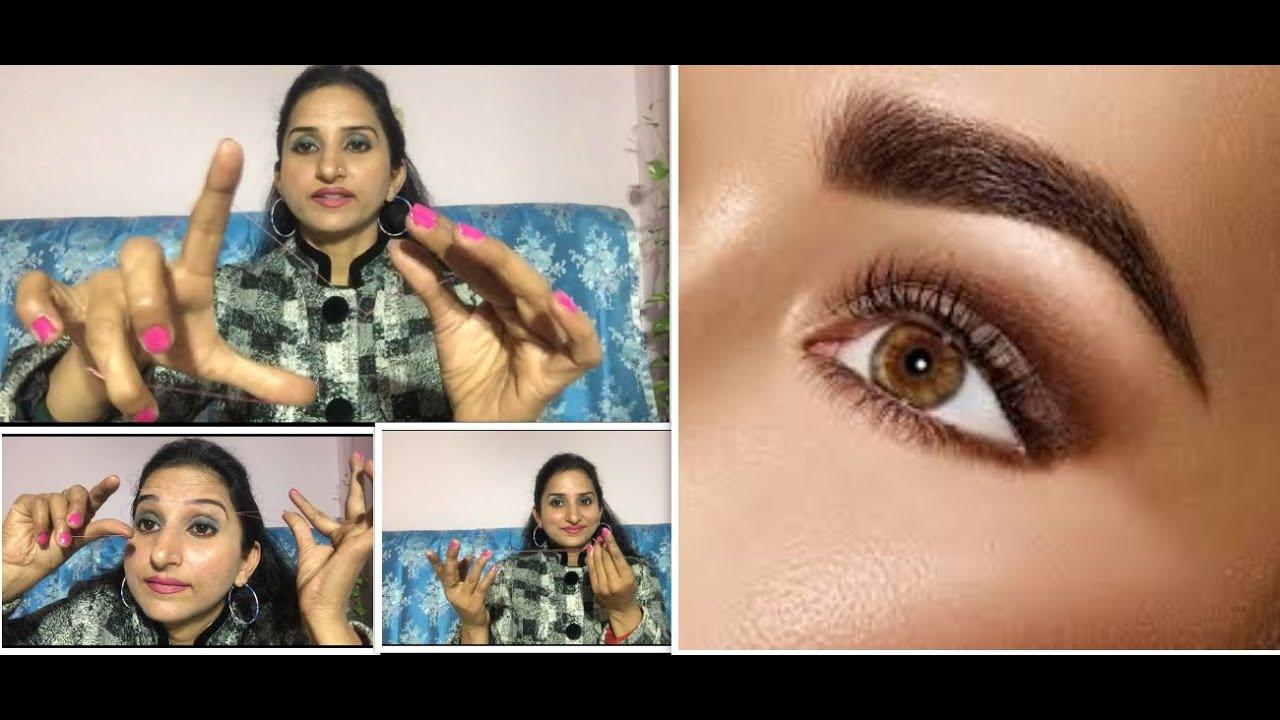 Eyebrow threading at home/easy steps/DIY - YouTube