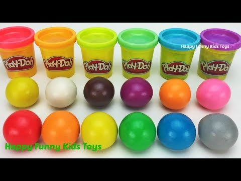 Learn Colors and Shapes with Play Doh Balls Fun & Creative for Kids Kinder Eggs Surprise Toys