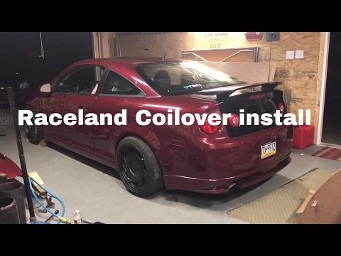 Cobalt SS raceland coilover install - YouTube