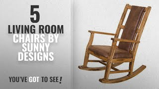Top 10 Sunny Designs Living Room Chairs [2018]: Sunny Designs 1935RO-2 Sedona Rocker with T-Fabric