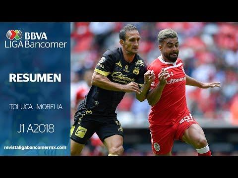 Resumen (3m) | Toluca 2 - 0 Morelia | Liga MX - Apertura 2018 - Jornada 1 | LIGA Bancomer MX