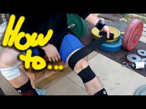 Easy olympic weightlifting knee wrap