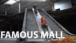 Sliding Down Abandoned Mall Escalator Stairs | Sam And Colby