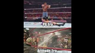 WWE Attitude Era vs PG Era