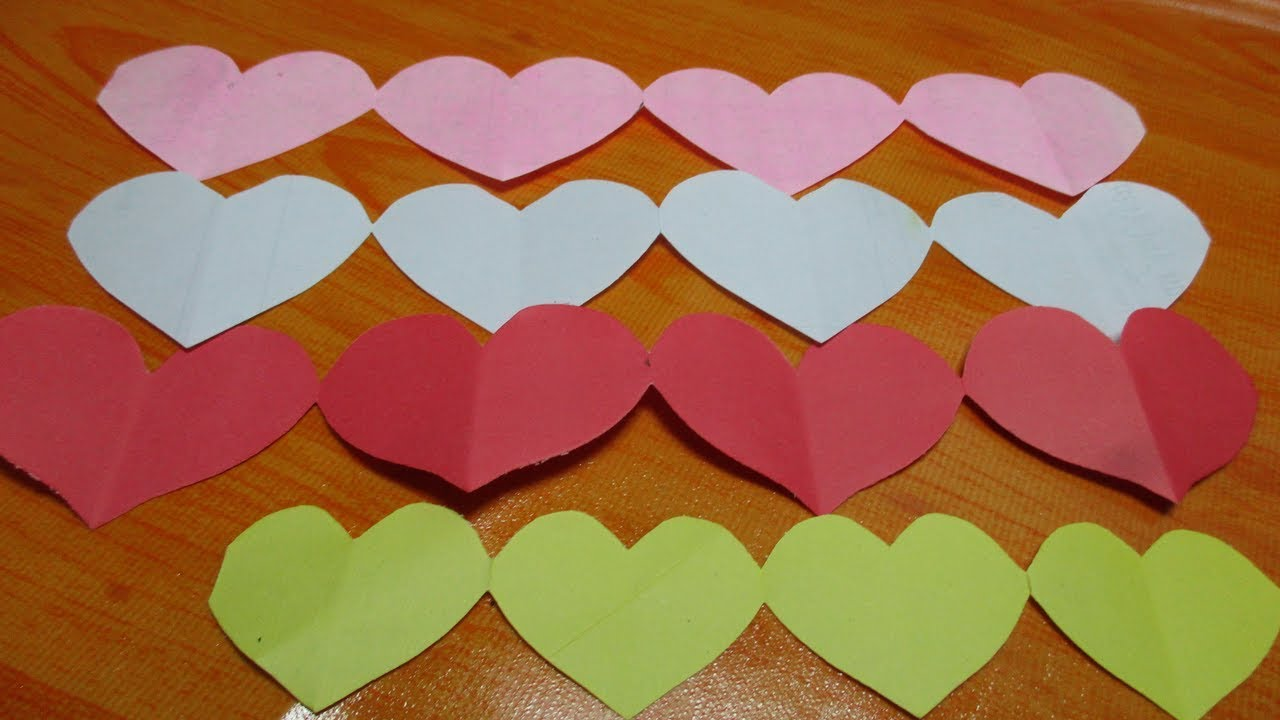 How To Make Quick And Easy Paper Heart Design Diy Crafts Paper Heart