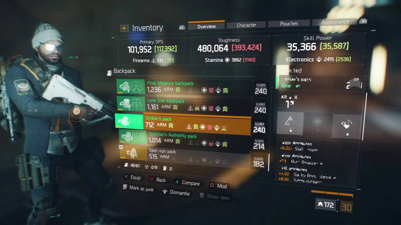 The Division Final Measure Tank Build
