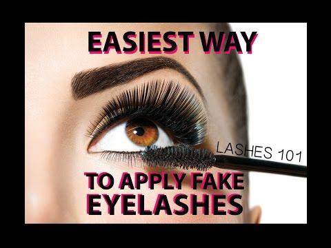 Easiest Way to Apply Fake Eyelashes - LASHES 101