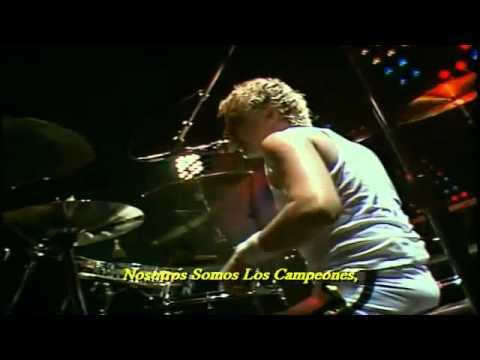 Queen We Are The Champions Live At Wembley (Cámara Roger Taylor).[Subtitulado Al Español].{HD}