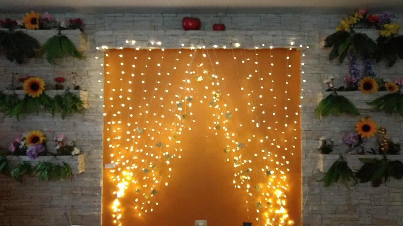 Como hacer cortina led para decoraci n de ambiente muy - Como hacer una mampara ...