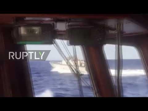 Mediterranean Sea: Libyan coastguard chases Spanish migrant aid boat