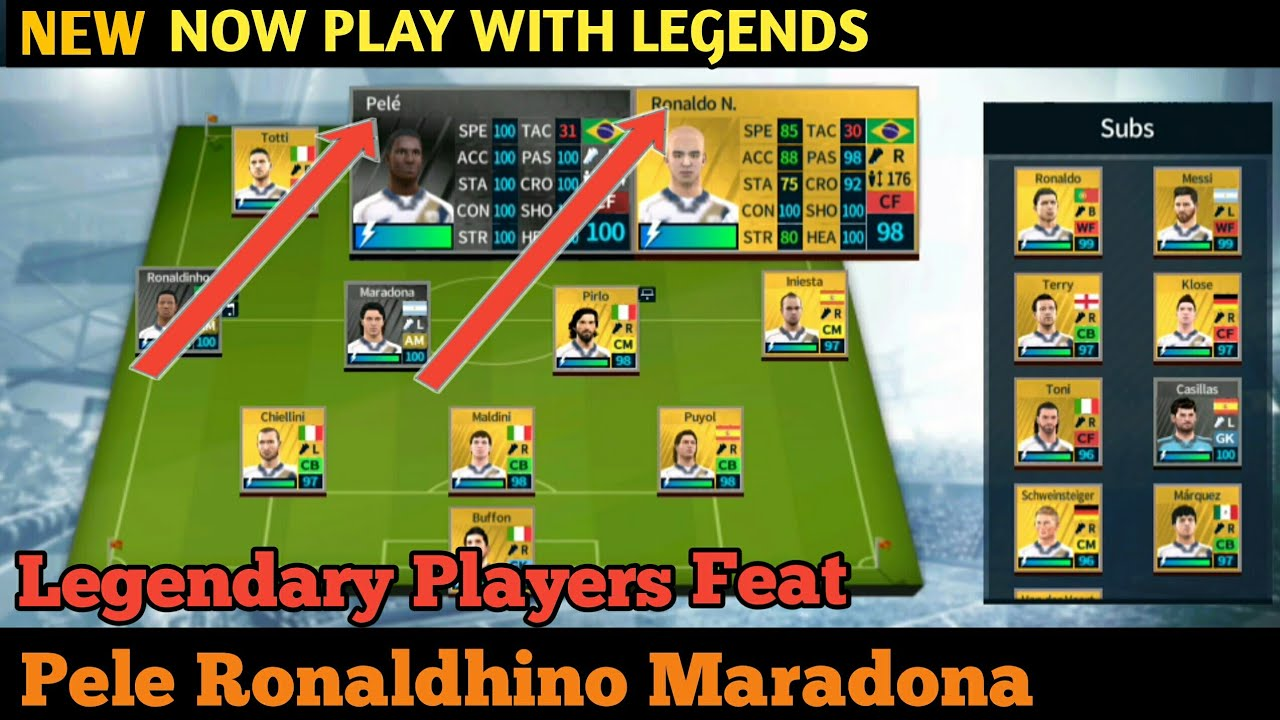 Get Legendary Players Ft Pele, Ronaldhino, Maradona In Dream Legaue Soccer  18