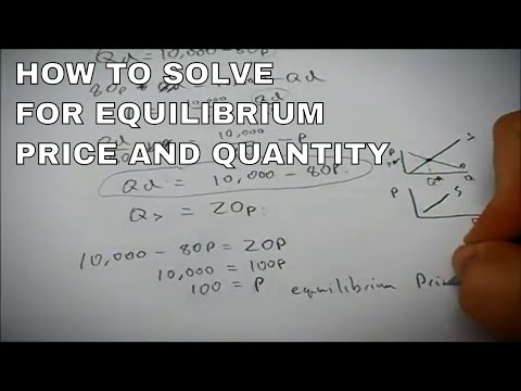 How To Find Equilibrium Price And Quantity Mathematically
