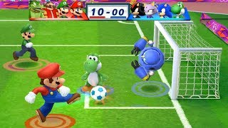 Mario & Sonic At The London 2012 Olympic Games Football Mario, Luigi, Dr Eggman and Vector