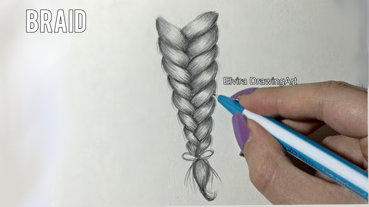 HOW TO Draw and Shade a braid [Simple Tutorial-step by ...
