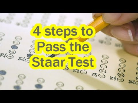 How To Pass The Staar Test Youtube