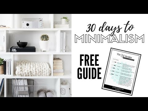 30 Days To Minimalism  |  Decluttering Made Simple