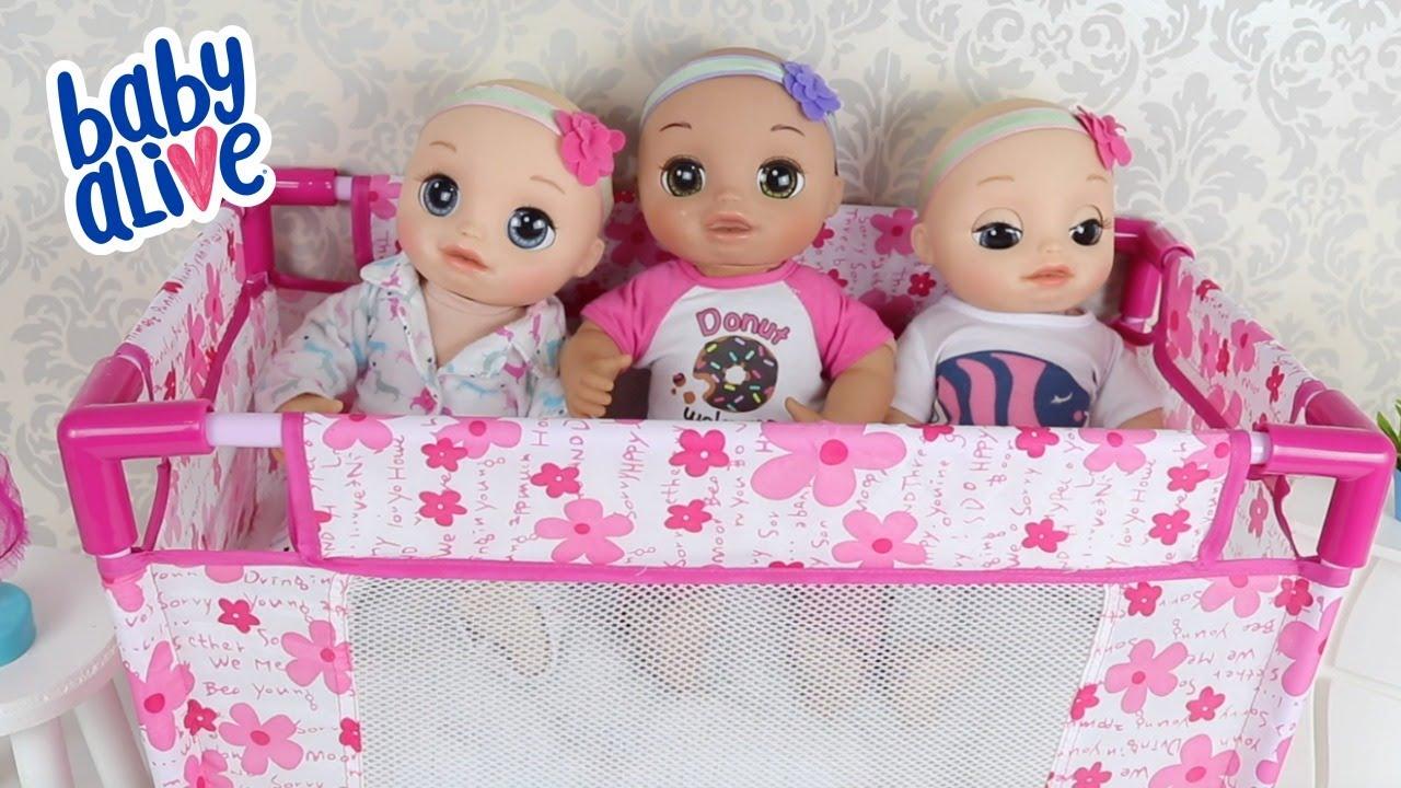 BABY ALIVE LAURINHA E SUAS IRMÃS NA ROTINA COMPLETA DA BABY ALIVE