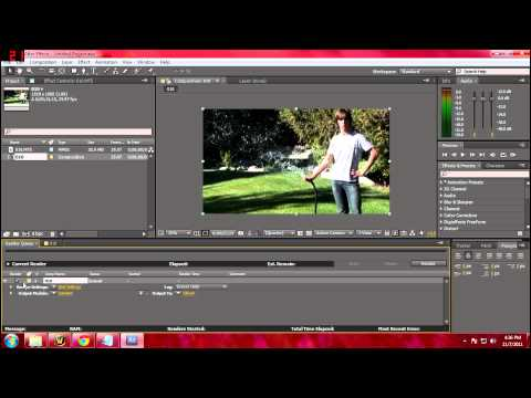 How to hear sound and render with sound in adobe after effects cs5 and cs4