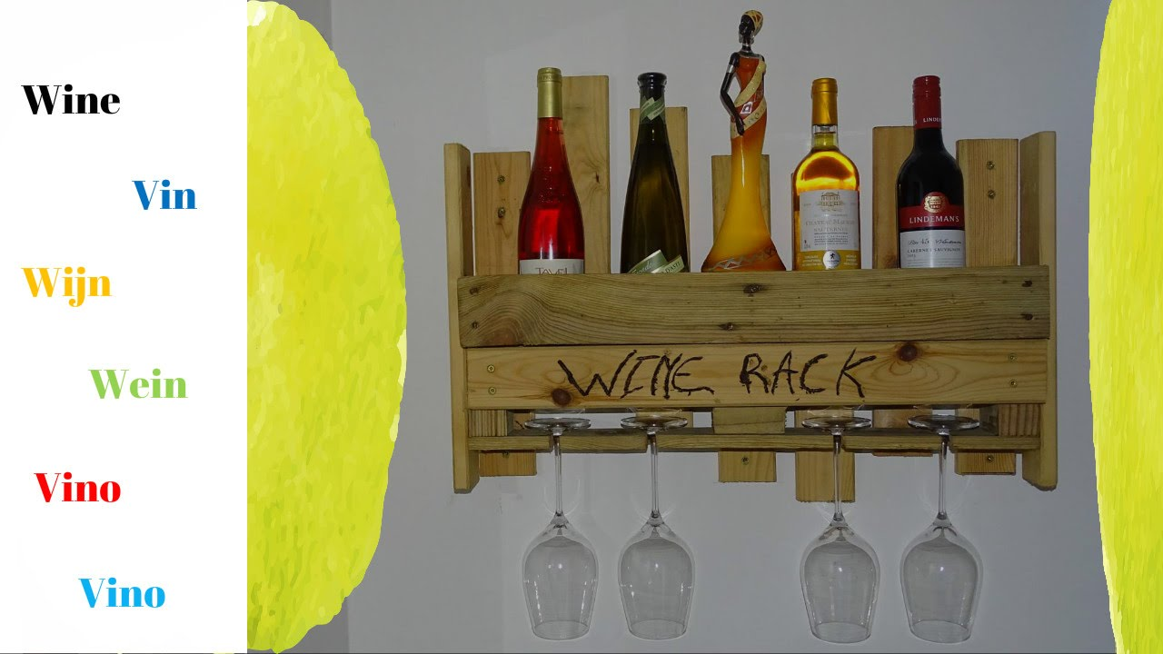 Weinregal aus weinkisten  How to make a wine rack from pallets and bed slats - DIY - YouTube