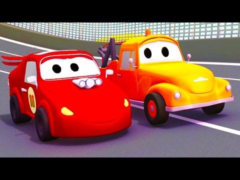 Tom la Grúa y todos sus amigos en Auto City !! | Dibujos animados para niños