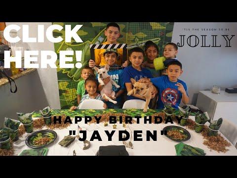 HAPPY BIRTHDAY SONG | JAYDEN ESPINOZA | BIG 13 PARTY | VERY EPIC #RAPGAME#WATCHTILLEND#WONTREGRETIT