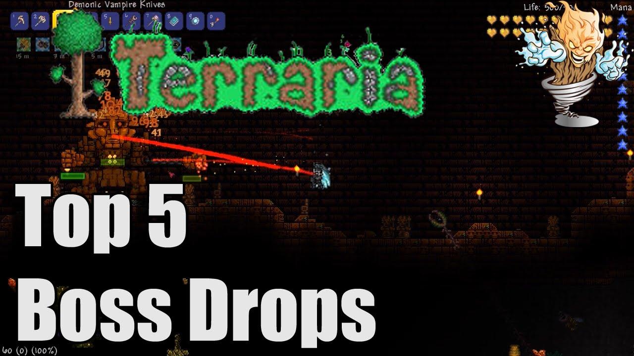 Terraria Top 5 Boss Drops | Terraria Countdown