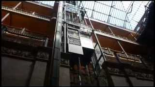 Bradbury Building Elevators   Los Angeles   by Kevin A  Mueller