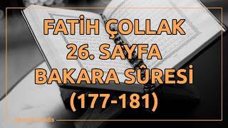 Fatih Çollak - 26.Sayfa - Bakara Suresi (177-181)