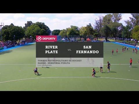 #HOCKEYenDEPORTV - San Fernando vs. River (Semi -vuelta-damas) PARTIDO COMPLETO