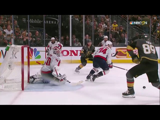 Braden Holtby makes the save of the year during Game 2 of the Stanley Cup Final.