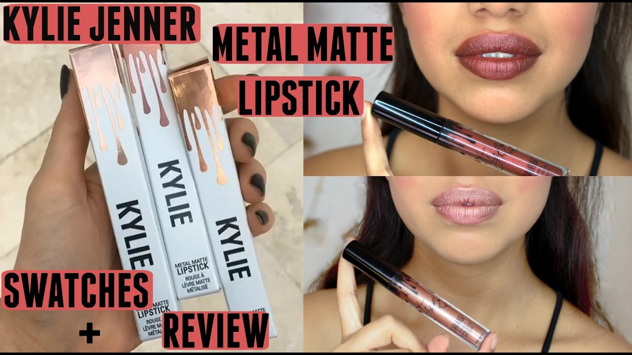 Extrem Kylie Jenner Metal Matte Lipstick   Review + Swatches - YouTube VC39