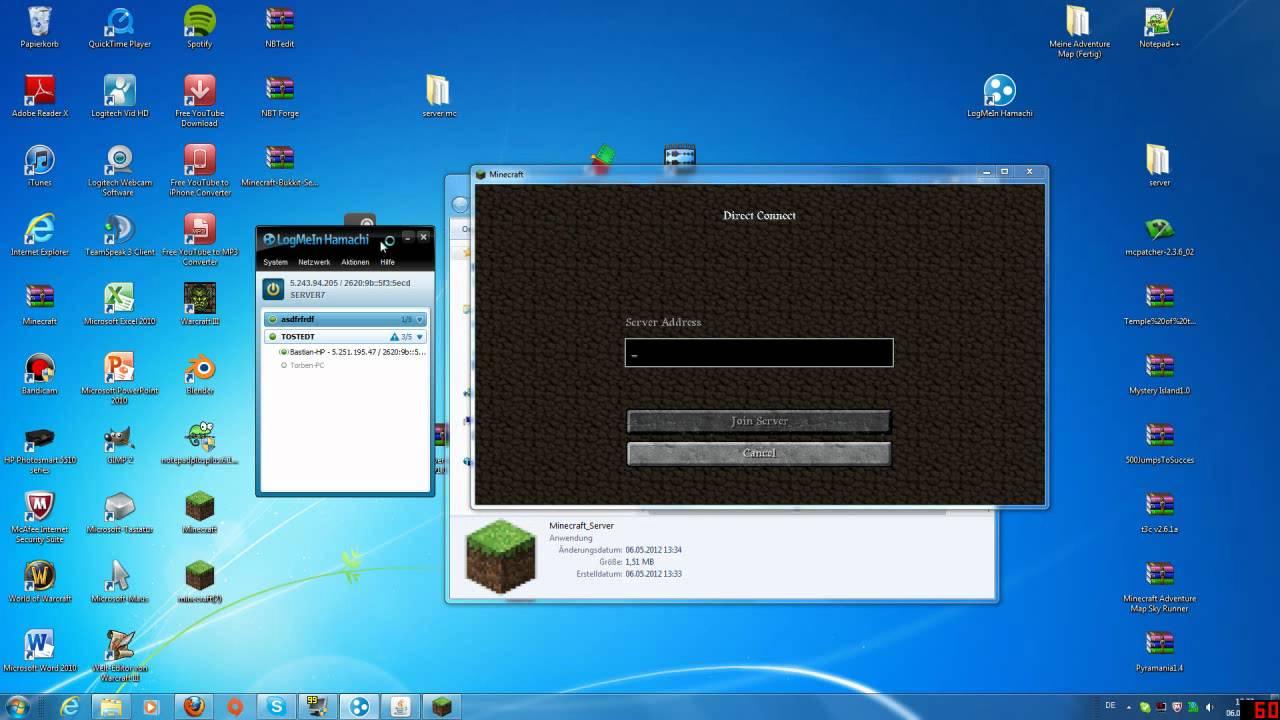 Eigenen MinecraftHamachi Server Erstellen Eigene Welten Einfügen - Minecraft hamachi server neue welt erstellen