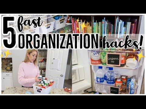 5 EASY WAYS TO ORGANIZE STRAIGHTEN AND DECLUTTER! CLEAN WITH ME 2019 | Brianna K