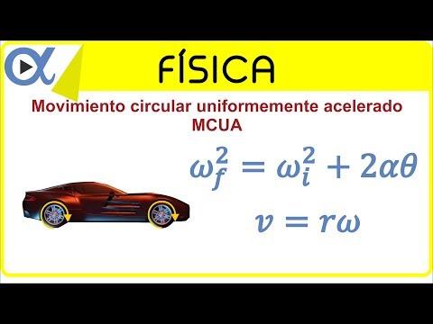 Movimiento circular uniformemente acelerado (MCUA) ejemplo 5 de 5   Física - Vitual