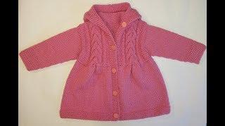 Пальто спицами-мастер класс.Пальто с косами .Ч.2.Как связать детское пальто спицами