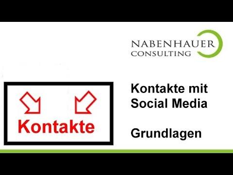 Social Media Tipp - So generieren Sie neue Kontakte! - Grundlagen Seminar von Robert Nabenhauer