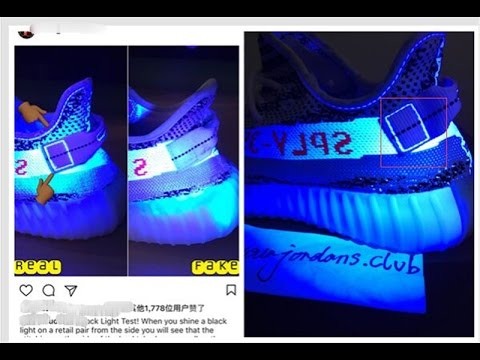 Light Test Via Uv Light Between Real And Fake For Yeezy
