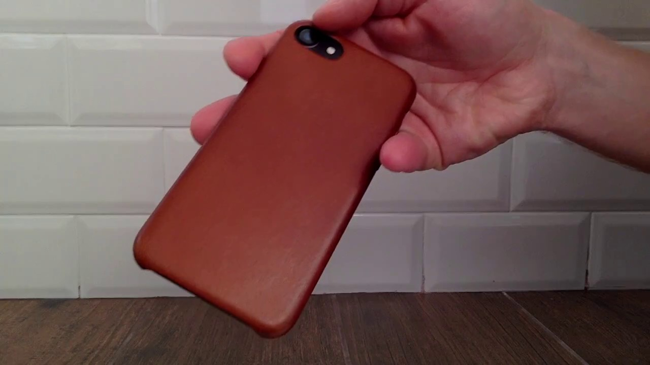 huge discount 7abfe dd2b6 iPhone 7 saddle brown leather case after 2 months