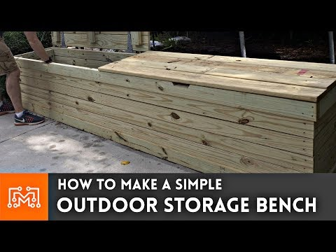 Outdoor Storage Bench // Woodworking How To   YouTube